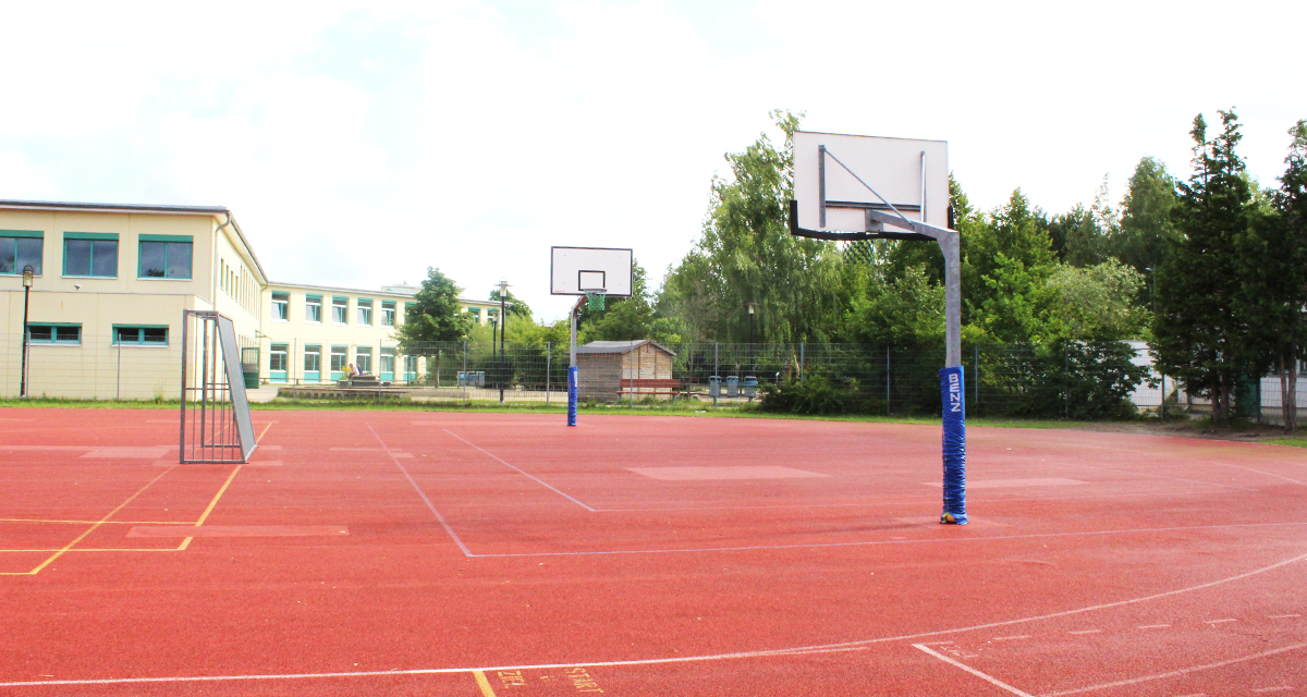 Basketball in der Pause