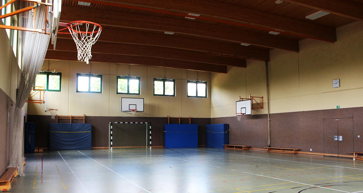 Unsere Sporthalle ist modern